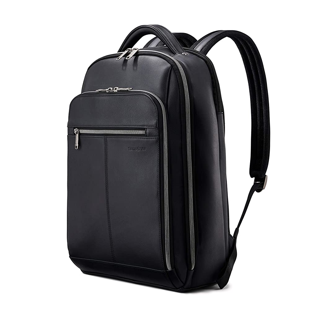 Samsonite Classic Leather Notebook Carrying Backpack