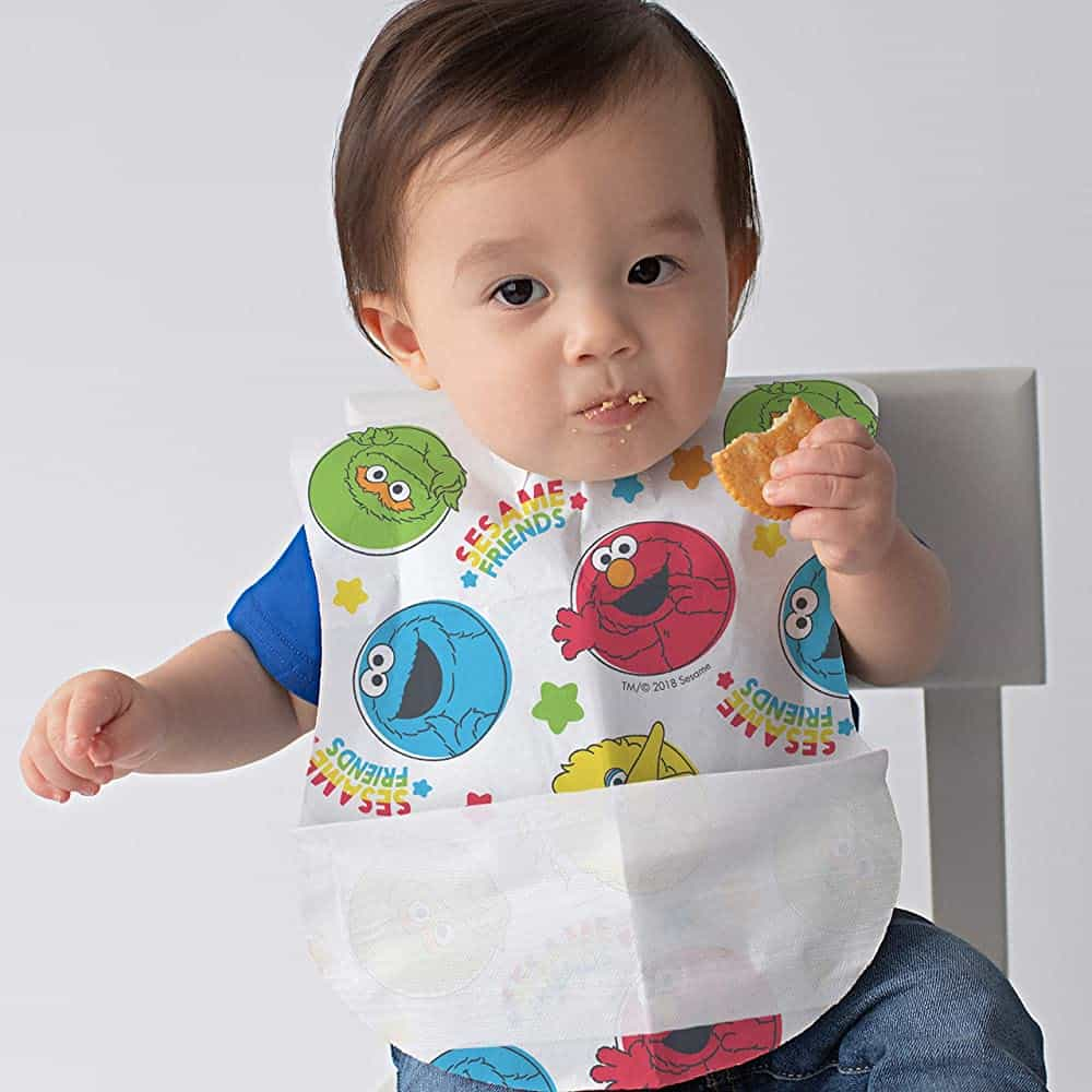 Bibsters Sesame Street Large Disposable Bibs