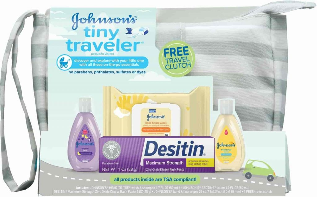 Johnson's Tiny Traveler Baby Bath Set