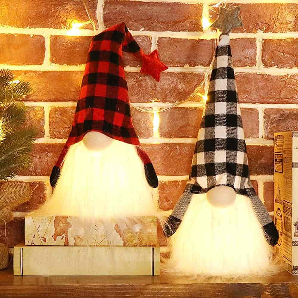 EDLDECCO Christmas Gnome with Light Timer