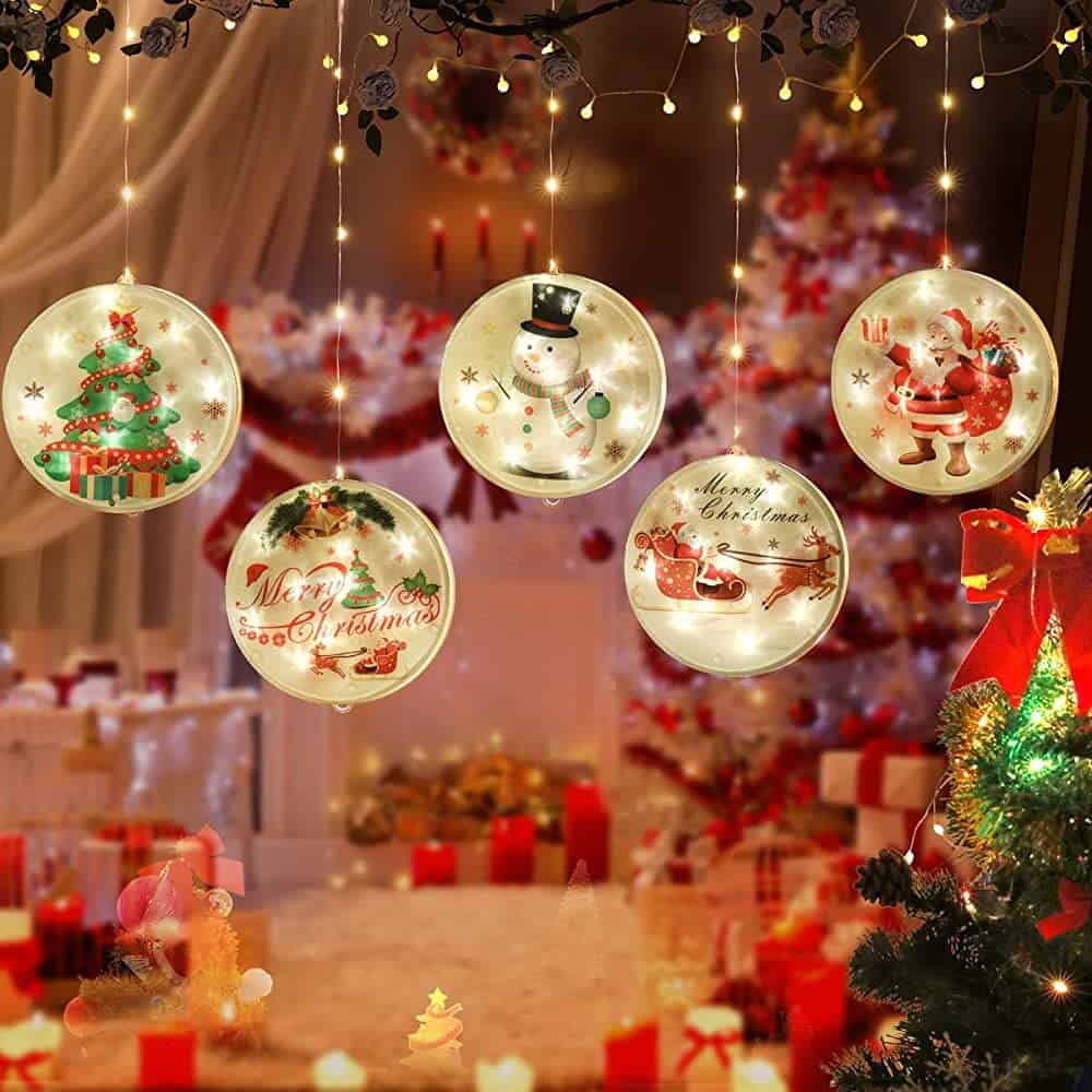 MILEXING Christmas String Lights, LED Christmas Decorations