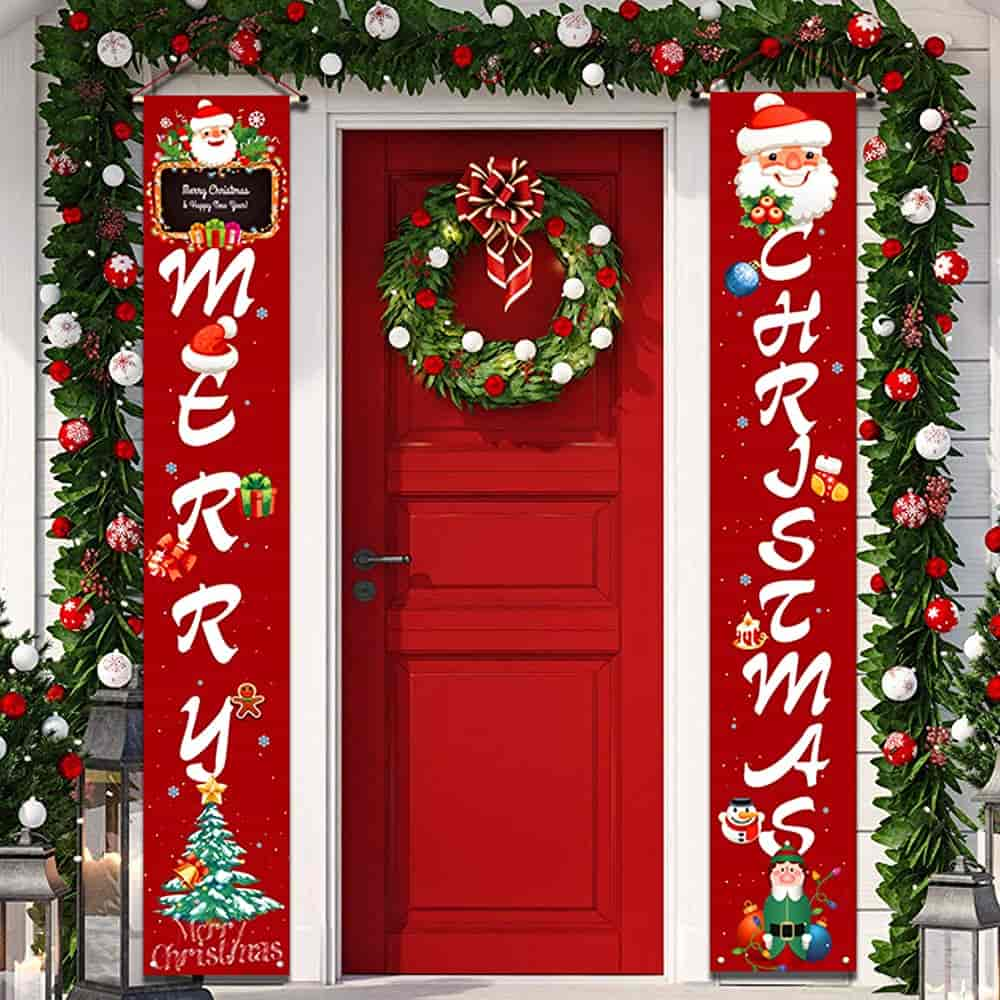 YUFOL Outdoor Merry Christmas Banner Sign Christmas Decorations