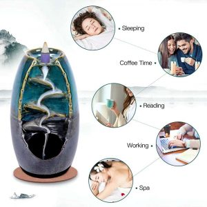 Spacekeeper Ceramic Backflow Incense Holder Waterfall