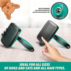 Ruff 'N Ruffus Self-Cleaning Slicker Brush